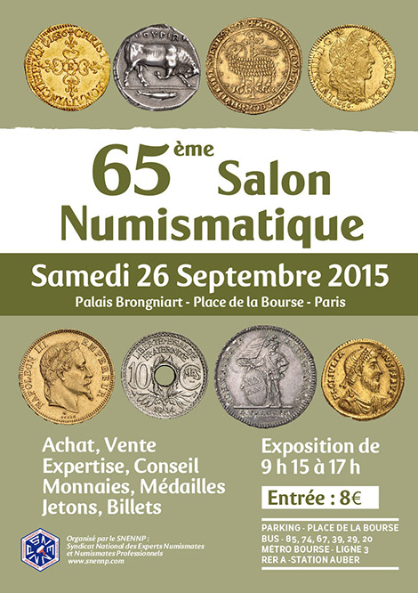 65 ème salon numismatique