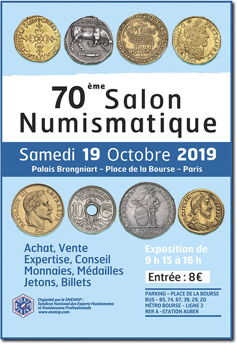 70ème salon numismatique
